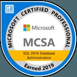 MCSA SQL 2016 Database Administration SQL Consultant
